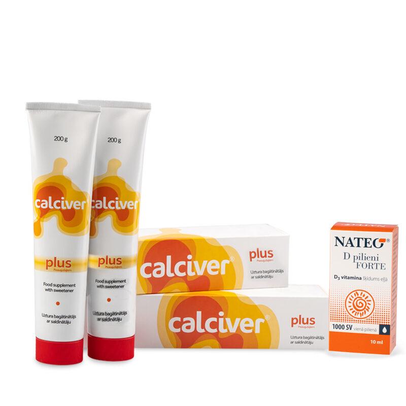 2 x Calciver Plus + Nateo D Forte pilieni dāvanā