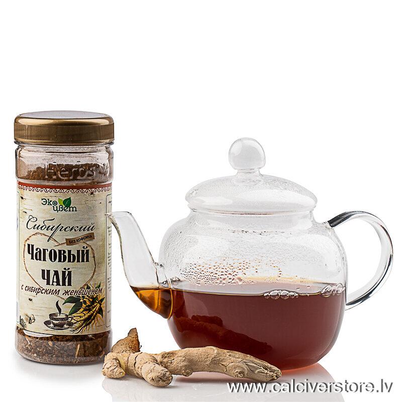 Sibīrijas čagas tēja ar žeņšeņu, 90g
