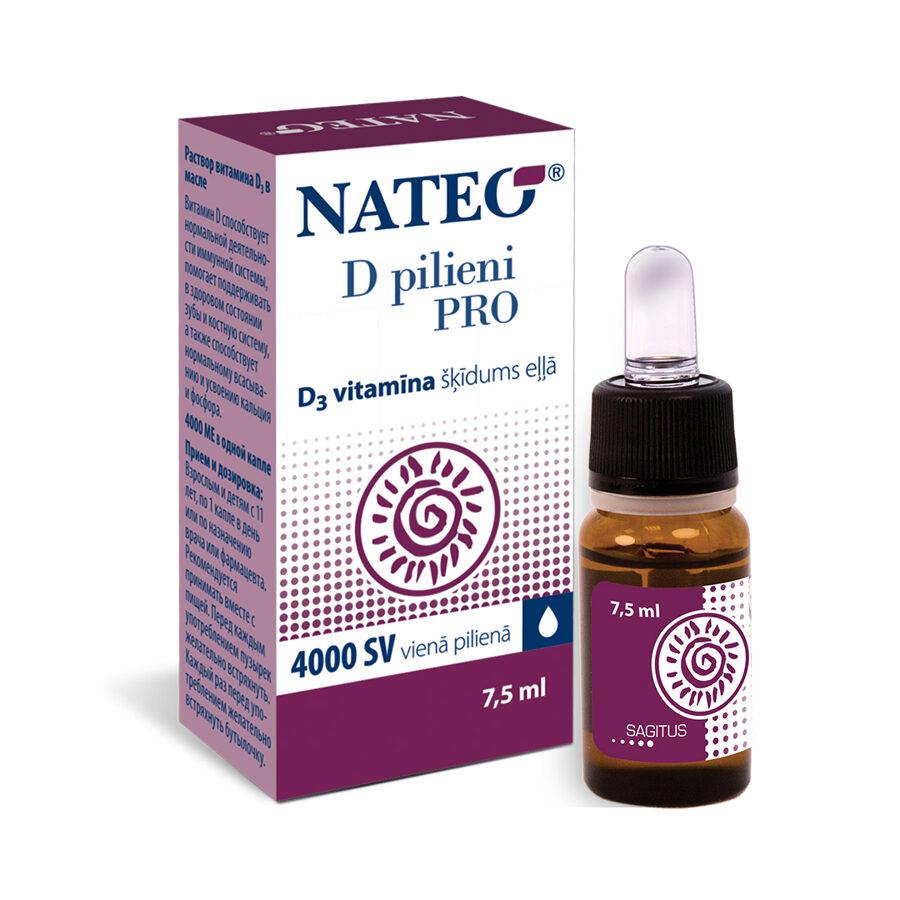 Капли Nateo D Pro, 7,5мл (1 капля - 4000 МЕ)