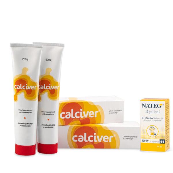 2 x Calciver + Nateo D pilieni zīdaiņiem dāvanā