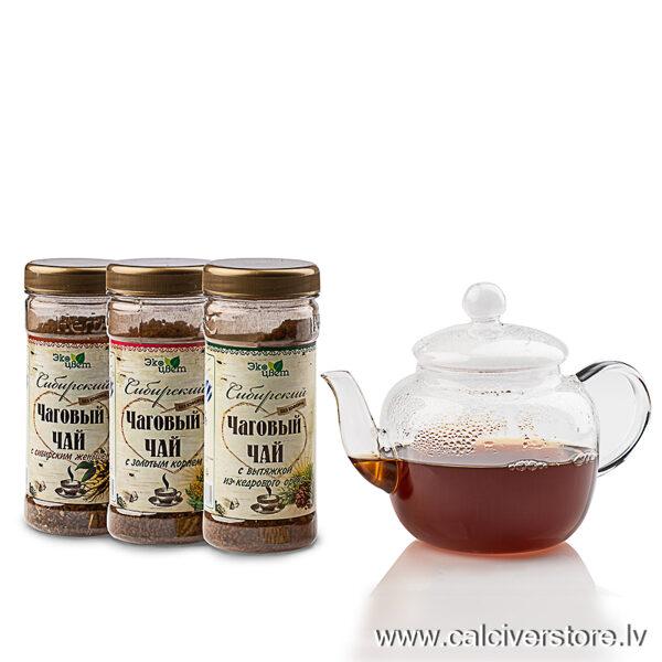 Sibīrijas čagas tēju komplekts, 270g