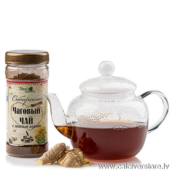 Sibīrijas čagas tēja ar zeltsakni, 90g