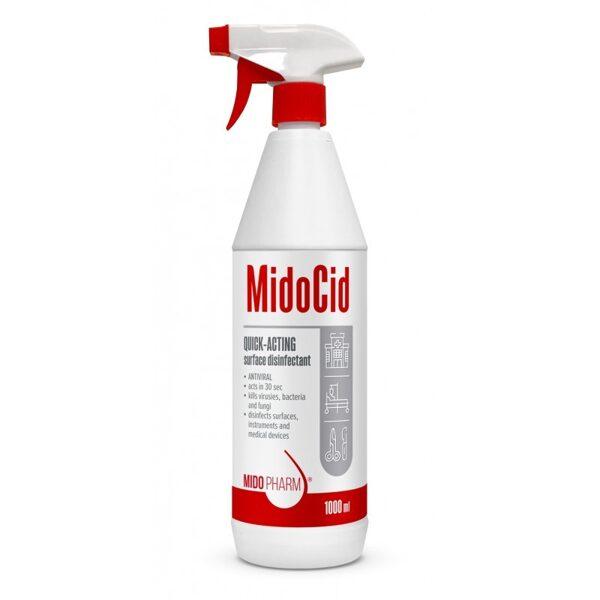 Ātras iedarbības dezinfekcijas līdzeklis virsmām MidoCid - 1000ml