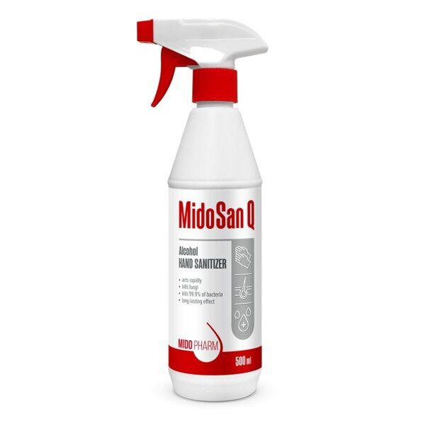 Šķidrs dezinfekcijas līdzeklis rokām un ādai MidoSan Q - 500ml