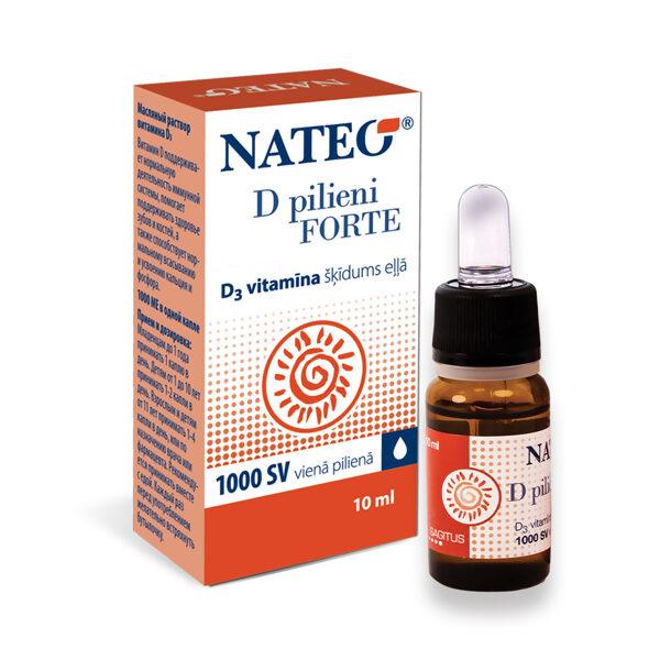 Nateo D Pilieni Forte, 10ml (1 piliens - 1000 SV)