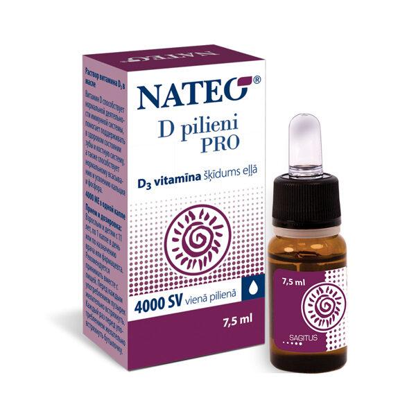 Nateo D Pilieni Pro, 7,5ml (1 piliens - 4000 SV)